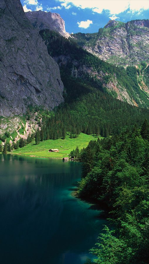 Fischunklalm pasture on Upper Lake in Berchtesgaden, Bavaria Germany • photo: Leto A. on Flickr THIS!! This is where Lisa would love to go!! Ugh, so beautiful!!