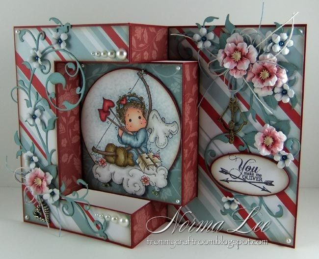 Featuring 'Tilda With Heart Arrows' and 'Flower Cloud' from Magnolia Stamps…