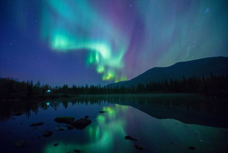 Wonderworld: A spectacular photo journey of Earth - Northern lights - Khibiny Mountains, Murmansk region, Russia.
