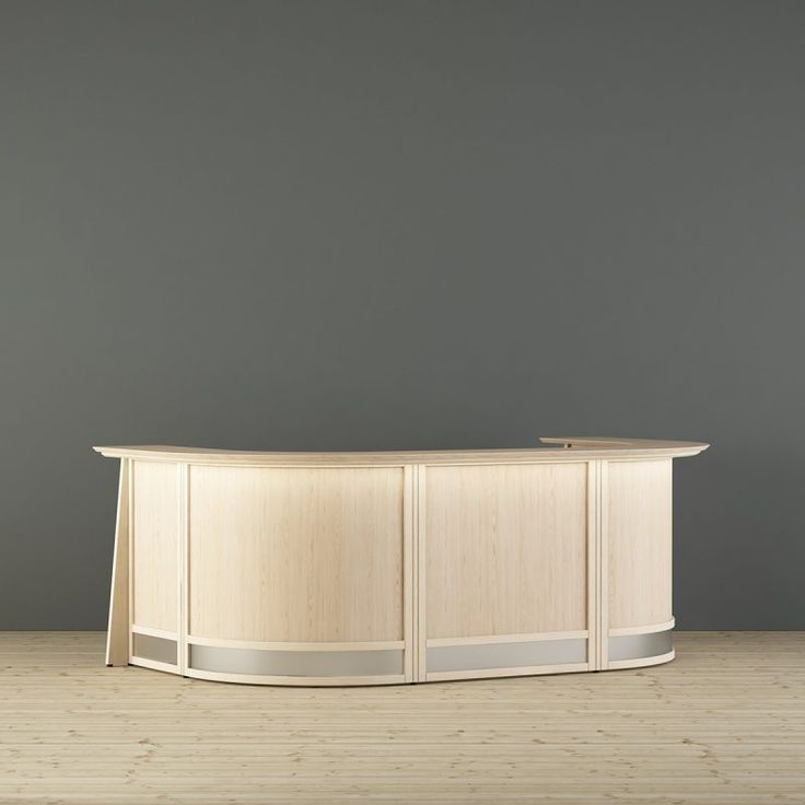 Flexible reception desks with wooden frame and many choices for material and colour. Europo reception desk can easily be customized to existing tables or complemented with table and lighting. The Europo family also includes partitions and floor screens. Scandinavian design. Made in Sweden. Design - Team Glimakra
