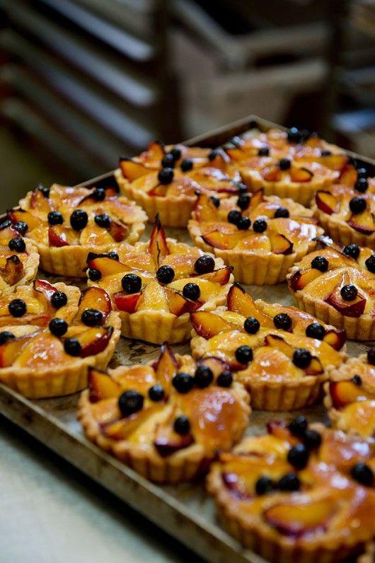 Nectarine tart at the Wild Bakery. Photography by Jody D'Arcy, Produced by Jo Carmichael