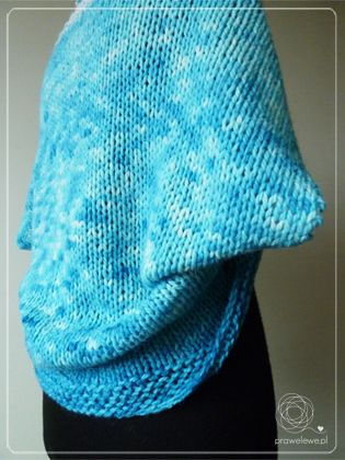 Teal-Snow Shrug by Cathliin - free pattern {www.prawelewe.pl}