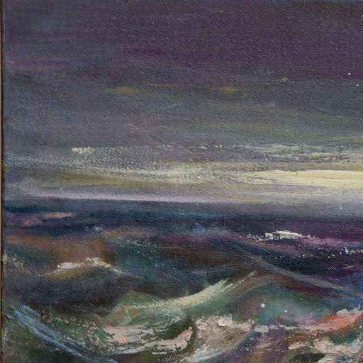 Μαρία Κτιστοπούλου, Η μωβ τρικυμία, λάδι σε καμβά, 50 x 100 cm - DL FINE ARTS GALLERY