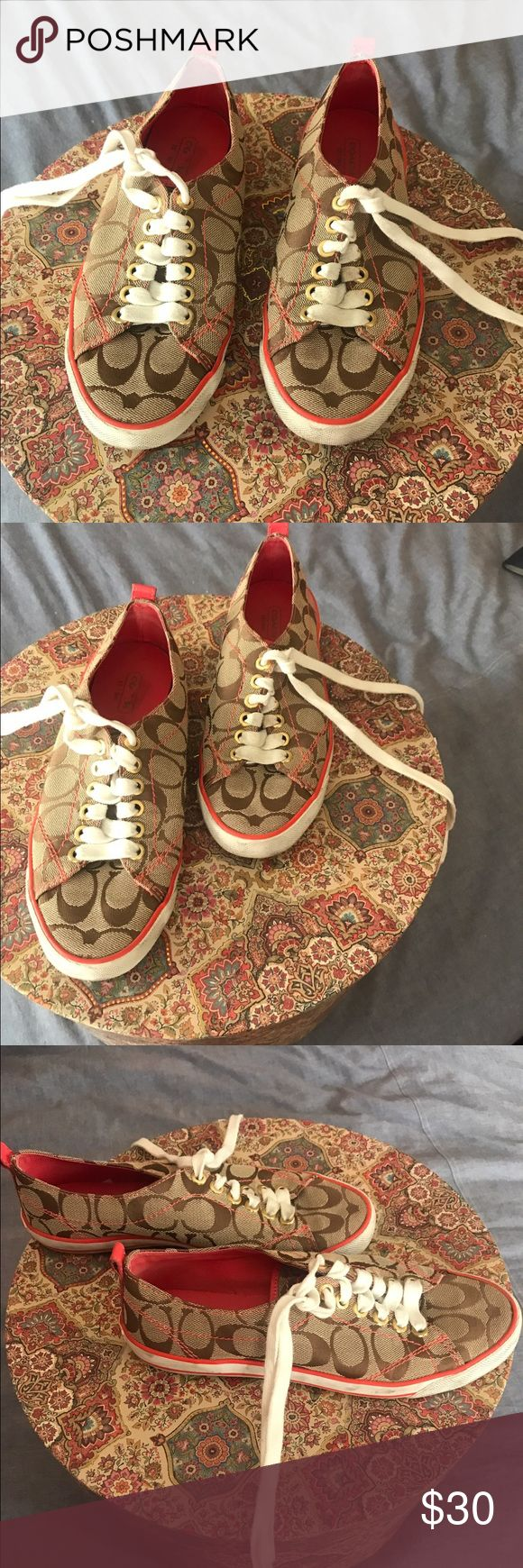 Coach Shoes , tennis shoes Coach tennis shoes, only worn twice and is in very good condition. Coach Shoes Sneakers