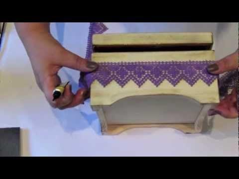 видео МК шкатулка с кружевом