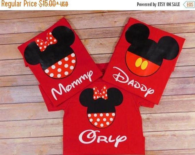 ¡VENTA!!!!!! Disney juego de camisetas de familia Disney, camisetas de cumpleaños de Disney, camisetas personalizadas, camisetas familia Custom, camisas de Disneyland, Disney world