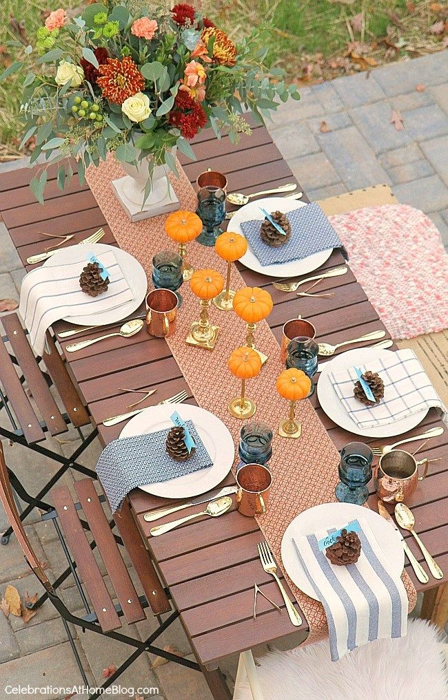 Friendsgiving Thanksgiving Celebration - party ideas, inspiration, and recipes. Tablescape