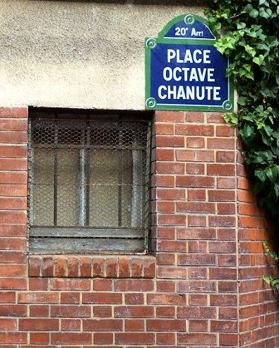 La place Octave-Chanute  (Paris 20ème)