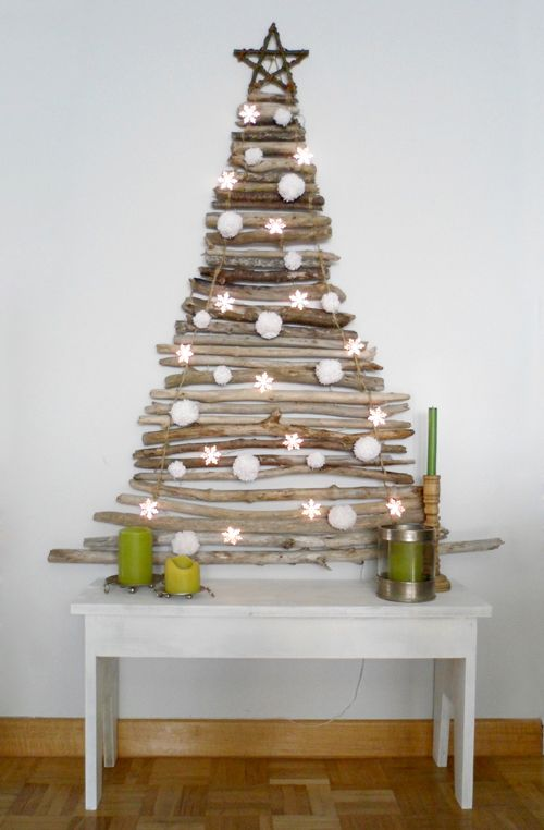 DO IT YOURSELF: CHRISTMAS TREE WITH STICKS- Nature for Christmas Need to let Google translate this site.