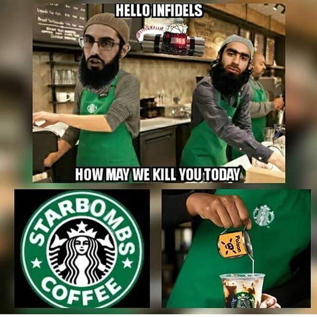 Starbucks hiring refugees possible terrorists.