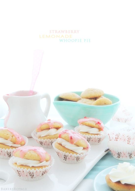 Strawberry Lemonade Whoopie Pies from @Bakers Royale | Naomi