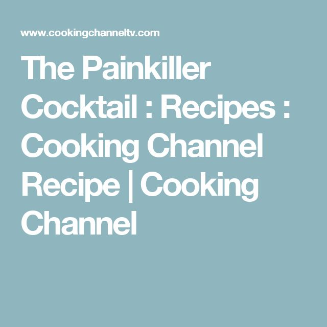 The Painkiller Cocktail : Recipes : Cooking Channel Recipe   Cooking Channel