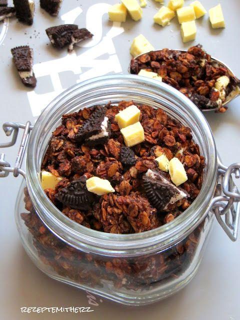 Oreo Knuspermüsli mit weißer Schokolade