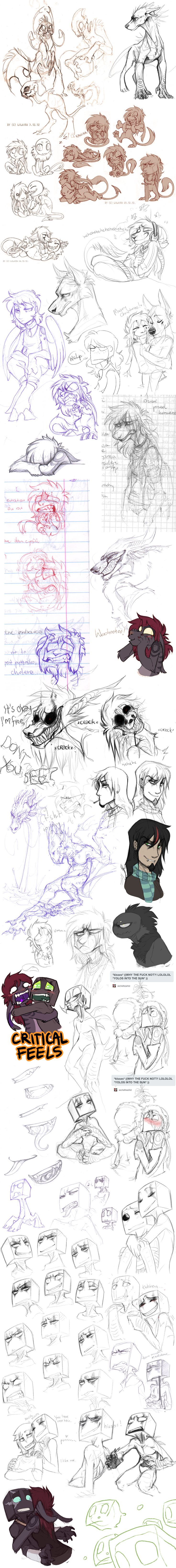 (top half) Sketch dump 45 by LiLaiRa.deviantart.com on @deviantART