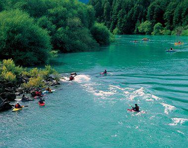 Kayaking on the Futalefu River, Chile