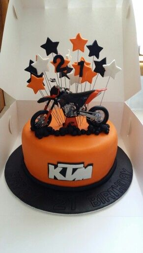 Ktm motobike cake