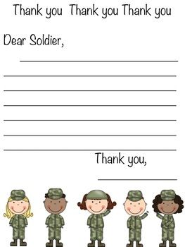 MILITARY LETTER OF APPRECIATION WRITING PROMPT - TeachersPayTeachers.com