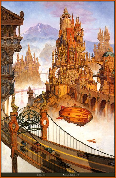 Winsor McCay City - Tom Kidd: Artists Studios, Emporio Efikz, Winsor Mccay, Art Steampunk, Mccay Cities, Illustration, Toms Kidd, Steam Punk, Thomas Kidd