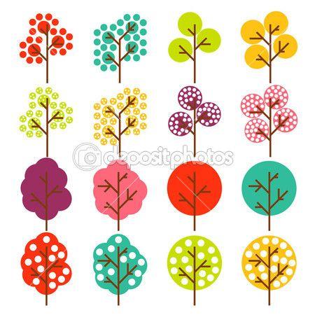 fond de vecteur arbre coloré — Illustration #4008130