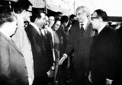 My father introducing senior PIDC officers to Prime Minister Bhutto (Doc Kazi) Tags: pakistan hostory heritage bhutto prime minister zulfikar ali zulfiqar industrial development pidc