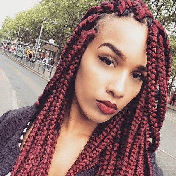 Big Box Braids With Rubber Bands