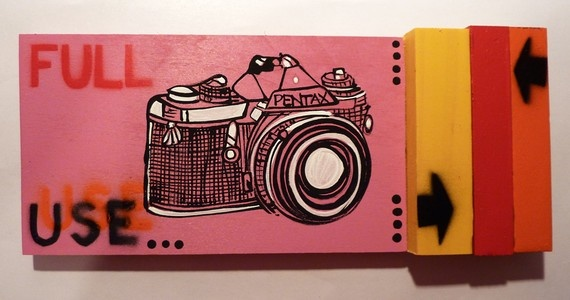 Vintage Pentax art by PeachyApricot on Etsy, $35.00