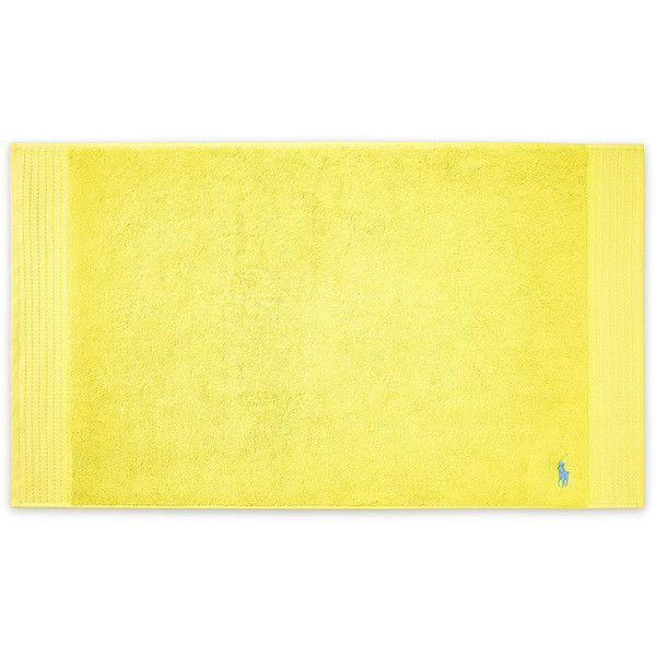 Ralph Lauren Home Player Bath Mat   Slicker Yellow ($34) ❤ Liked On Polyvore