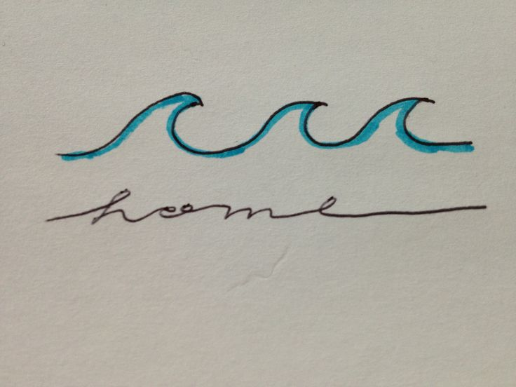 The gallery for --> Wave Outline Tattoo