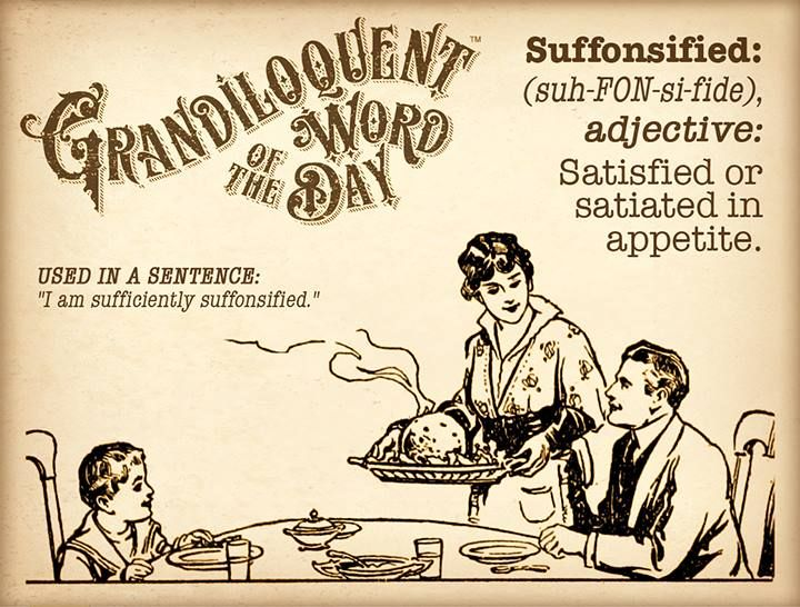 Want to throw pompous Uncle Pete for a loop at Thanksgiving dinner? Use this word. You're welcome. 😉 #vocabulary