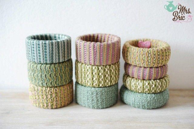 I bracciali con materiali di riciclo della nostra lettrice Mrs Bric | Foto