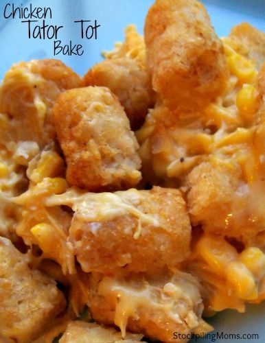 Chicken Tater Tot Bake: HUGE HIT!!!  My boys devoured this!  It was simple to throw together and put in the oven. I had all the ingredients on hand. And the corn gave it a good extra flavor with a crunch. This is definitely added to our meal plan!
