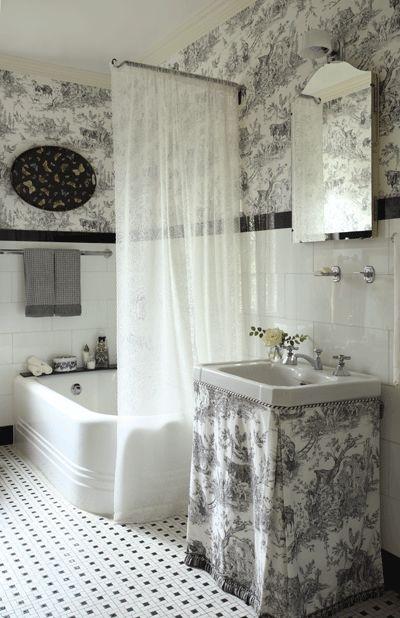 Toile Bathroom Google Search Toile Bathroom