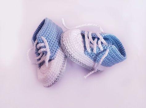 Botinhas de crochê grátis para recém-nascidos!   – Socken stricken