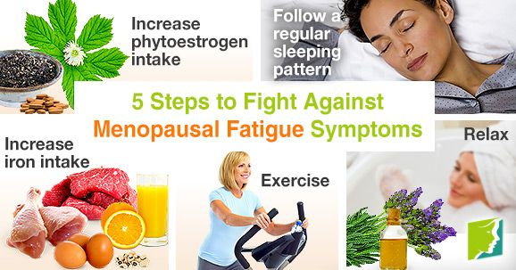 5 steps to fight against menopausal fatigue symptoms.