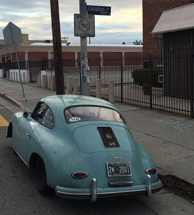 Straight Outa #Compton, lol.  Don't think this is the same Compton!  South Central #LosAngeles in the #Porsche356 #Porsche