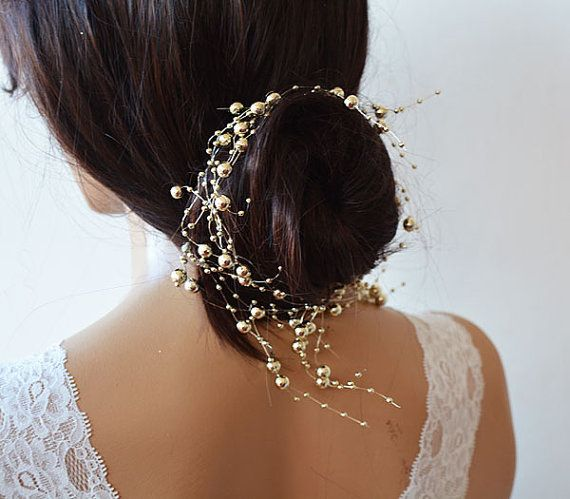 Gold Pearl headband, Wedding gold Headband, Bridal Headband, Bridal Accessories, Wedding Accessories Your package will be sent with quick delivery cargo option in three days after payment. Dont hesitate to contact me for any questions or requests, I would be very happy to help for any kind of