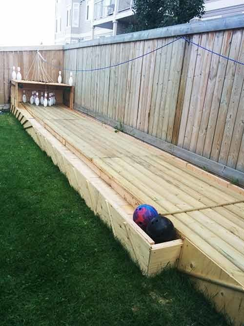 This is the ultimate in home bowling. | 25 Amazing Backyard Ideas To Keep Your Family Outdoors
