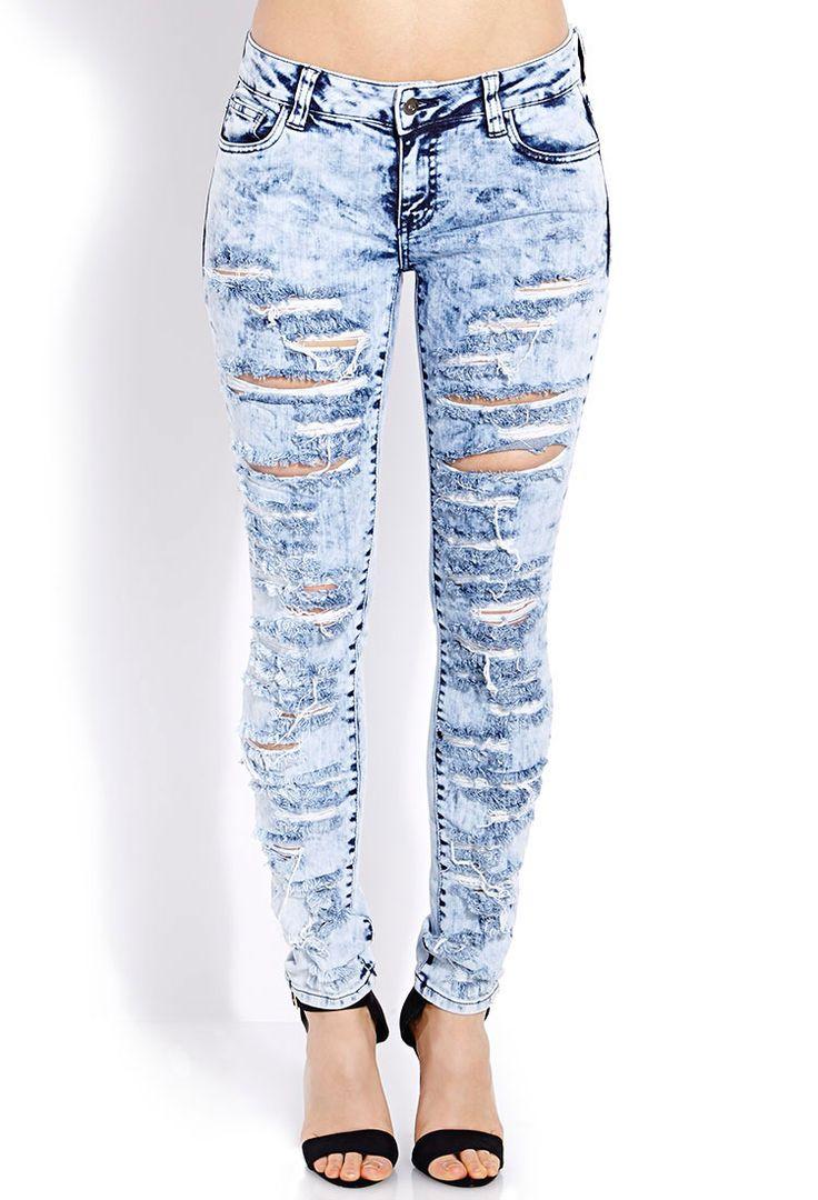 Daring Destroyed Skinny Jeans   FOREVER21 Denim daze #Skinnies #Capsule  #MineralWash - 85 Best Jeans Images On Pinterest