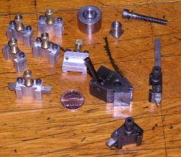 Lathe Tool Holders - Homemade lathe tool holders machined from aluminum. Accommodates 3/16