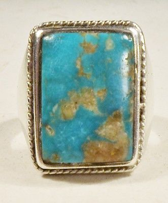 NAVAHO ROYSTON TURQUOISE GENTS RING