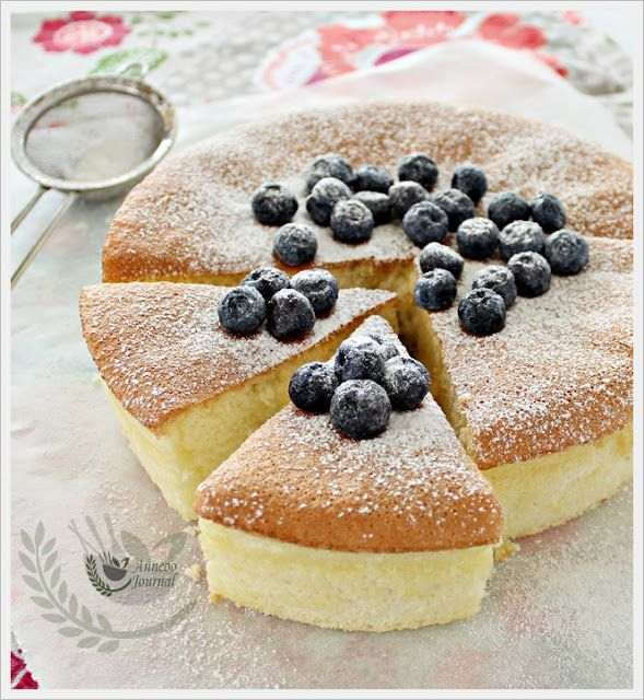 Wheat-Free Sponge Cake 无麸海绵蛋糕 | Anncoo Journal - Come for Quick and Easy Recipes add custard powder milk oil and 1 tsp baking powder for egg use cornmeal and almond ground for flour
