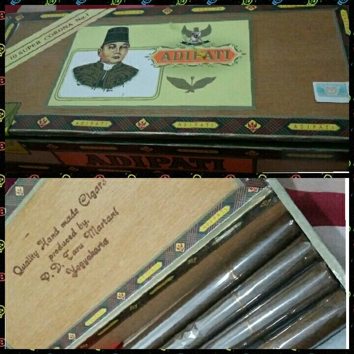 Best of traditional Indonesian cigars ... Adipati Super Corona.  #yogyakarta #traditionalcigars #travel  #PDTaruMartani #amazingindonesia