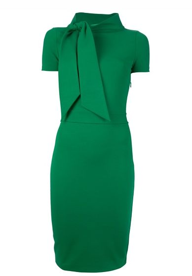 Emerald green dress by Dsquared | More green here: http://mylusciouslife.com/colourgreen-fashion-home-decor/