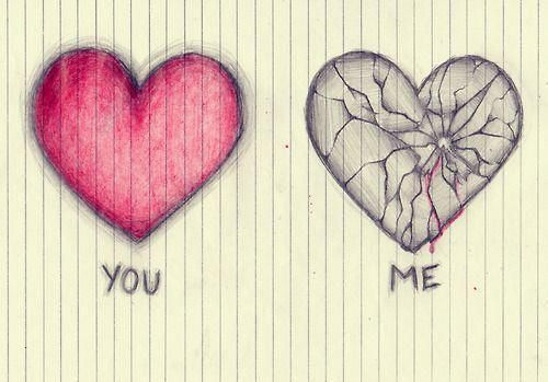 I want you to draw the broken heart but only the broken one and much larger for my birthday. I think its really cool.