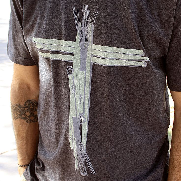 This Drummer shirt features drumsticks and brushes forming a cross on the front. This shirt is designed uniquely for the praise and worship drummer.