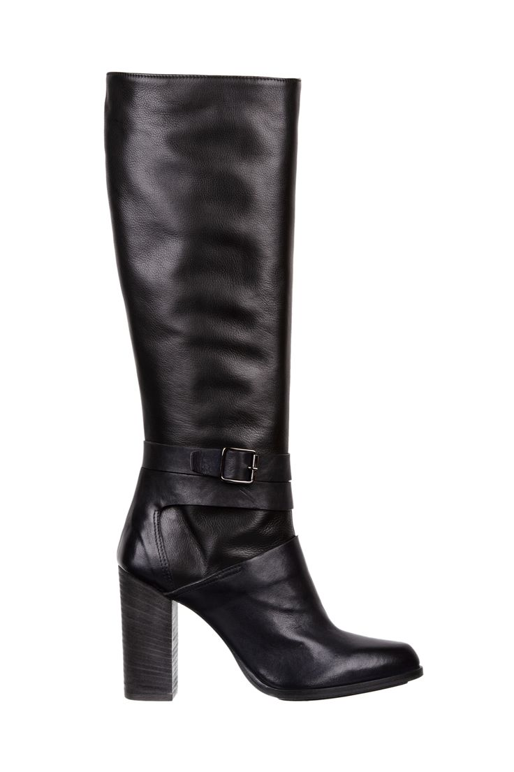 black leather boots - fiorifrancesi