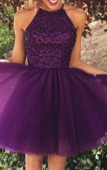 Just need $134.9.Purple Homecoming Dresses,Cheap Homecoming Dresses,Handmade…