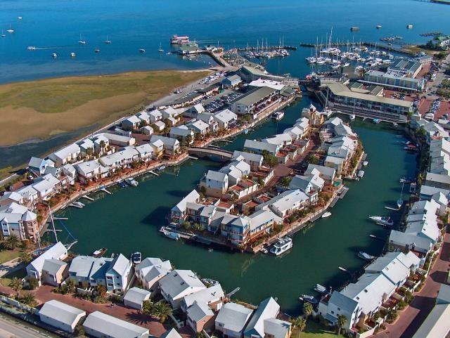 Knysna Quays residential marina, Knysna Waterfront.
