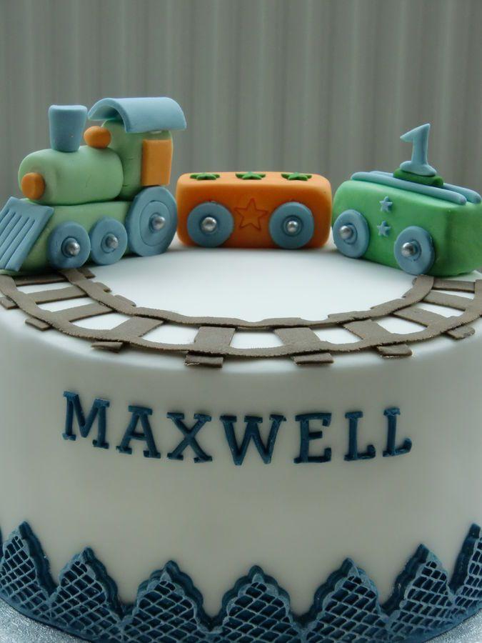 Baby train — Birthday Cake Photos