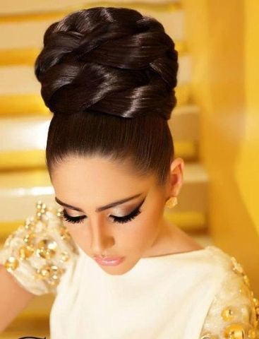 Tight Collected Hair With High Buns Wedding Ideas